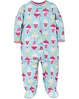Amazon.com: Little Me Baby Girls Frog Soft Zipper Footie Pajamas ...