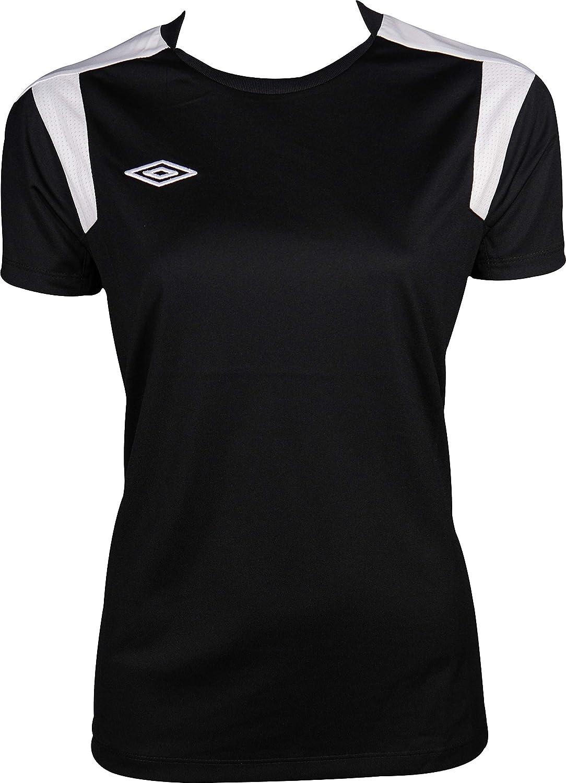 Black-L Umbro Poly Short Sleeve Womens Training Top