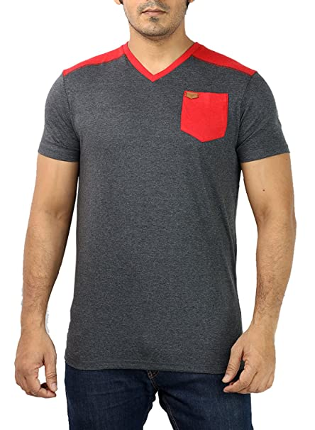 84a4d3744 UD SPORTS Men's V-Neck Half Sleeve Charcoal Grey T-Shirt: Amazon.in:  Clothing & Accessories