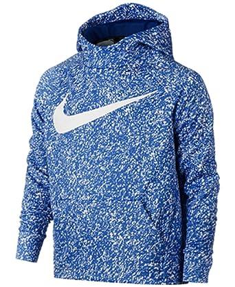 fd47de9783a2 Nike Big Boys  (8-20) Dri-Fit Therma Pullover Training Hoodie-LightBlue White-Large   Amazon.co.uk  Sports   Outdoors