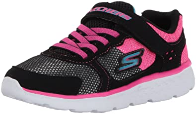 Skechers Kids Girls' Go Run 400-Sparkle Sprinters Sneaker, Black/Hot Pink, 3.5 M US Big Kid