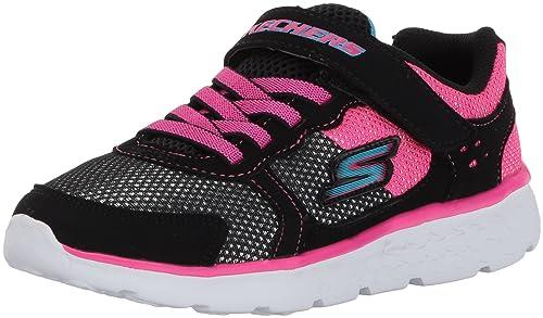Zapatilla de deporte GO Run 400-Sparkle Sprinters para ni?as, color negro / rosa fuerte, 12 M US Little Kid: Amazon.es: Zapatos y complementos