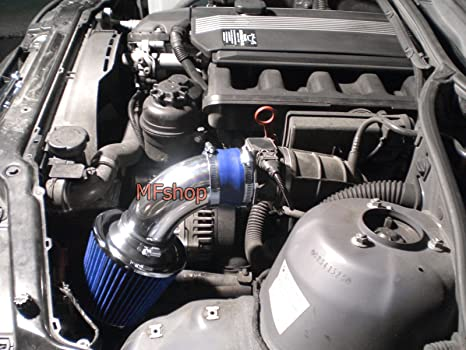 1998 1999 2000 2001 2003 2004 2005 BMW E46 323 325 328 330 Air Intake  Filter Kit System (Blue Filter Accessories)