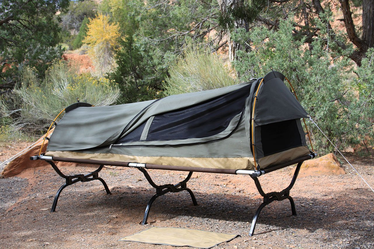 Amazon.com  Kodiak Canvas 1-Person Canvas Swag Tent with Sleeping Pad Olive One Size  Sports u0026 Outdoors & Amazon.com : Kodiak Canvas 1-Person Canvas Swag Tent with Sleeping ...