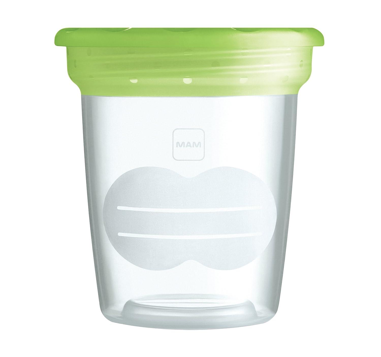 MAM 500400 - Vasetto per la conservazione di alimenti e latte materno, 5 pezzi BC0405 contenitore per cibo contenitore per latte materno pappa