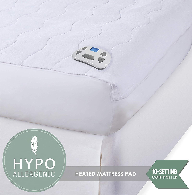 cal king heated mattress pad Amazon.com: Perfect Fit Serta Heated Microplush programmable  cal king heated mattress pad
