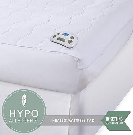 amazon heated mattress pad Amazon.com: Perfect Fit Serta Heated Microplush programmable  amazon heated mattress pad
