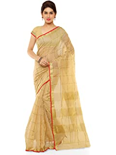 Kvsfab Women S Cotton Silk Saree Yellow Amazon In Clothing