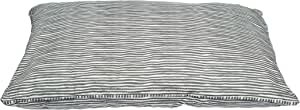 MOG & BONE Futon Dog Bed Grey Stripe Print Large