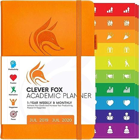 Amazon.com: Clever Fox 2019-2020 Planificador semanal y ...