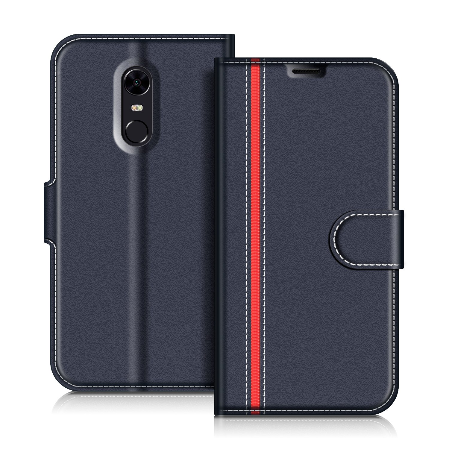 Funda Xiaomi Redmi 5 Plus, Coodio Funda Cuero Xiaomi Redmi 5 Plus, Funda Cartera Xiaomi Redmi 5 Plus Case Con Magnético/Billetera/Soporte Para Xiaomi Redmi 5 Plus, Negro: Amazon.es: Electrónica