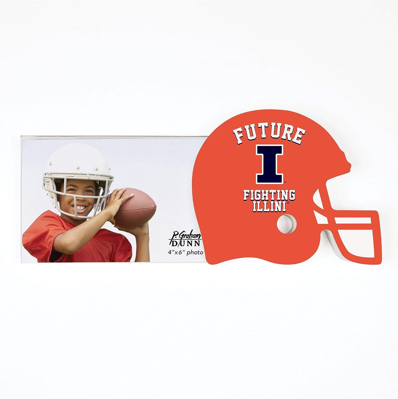 University of Illinois Future Helmet 4 x 6 Wood and Acrylic Tabletop Photo Frame
