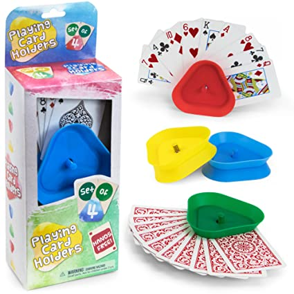 Brybelly Triangle Shaped Hands-Free Playing Card Holder