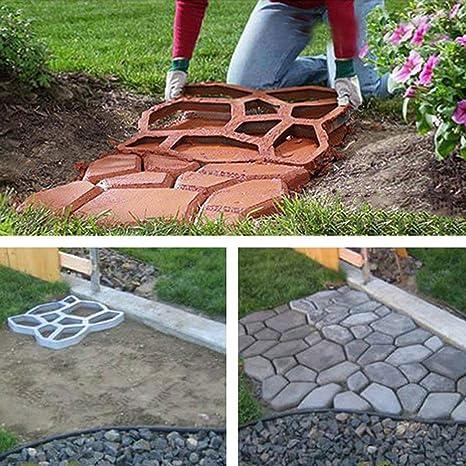 Forever Speed 5X DIY Molde Formar para Jardín Pavimentación Camino de piedra, 42,5 x 42,5 x 4cm: Amazon.es: Bricolaje y herramientas