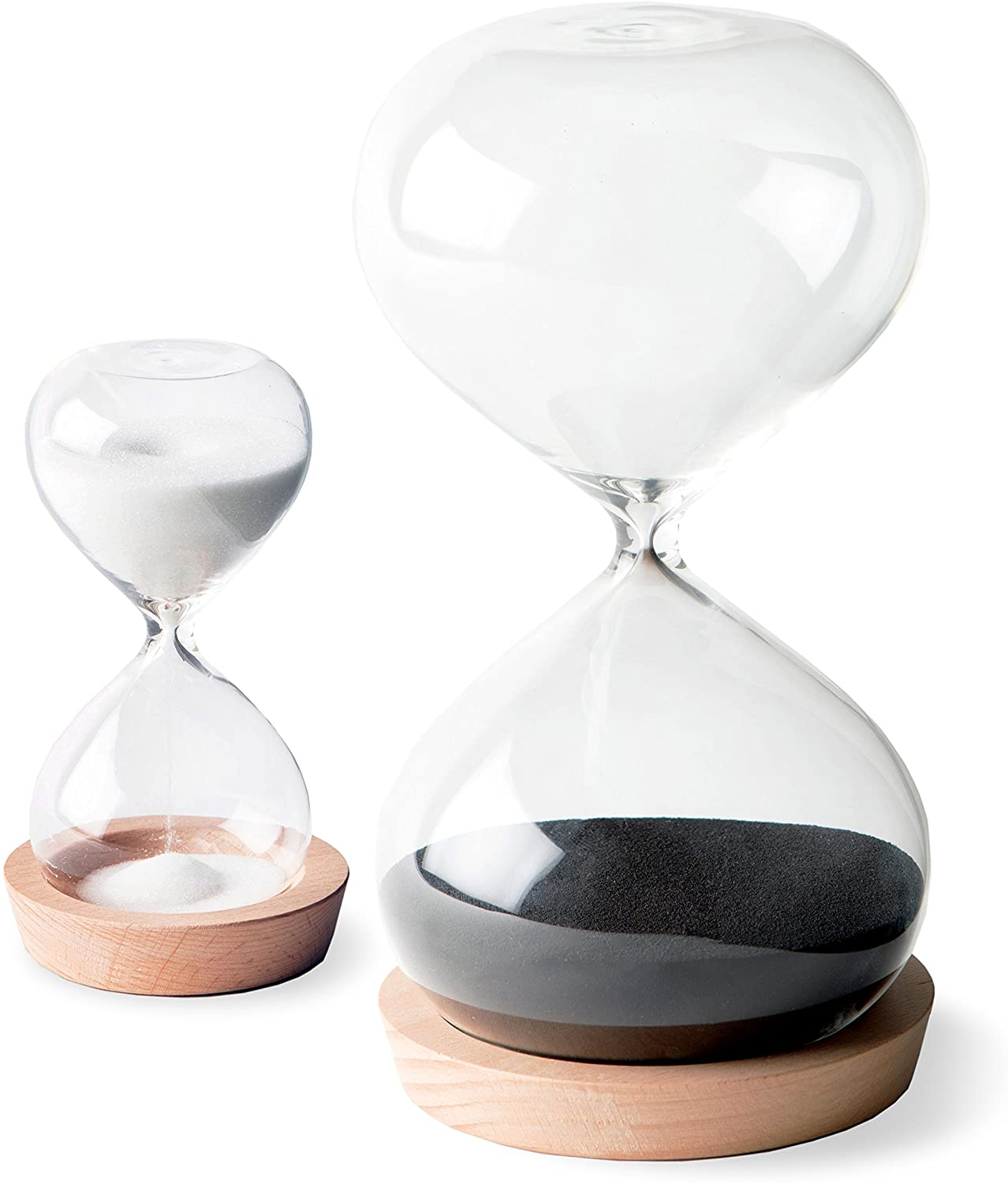 A picture of   OrgaNice Hourglass Sand Timer - 30 Minute & 5 Minute Timer Set to better elaborate 'Best Hourglass clocks 2020""