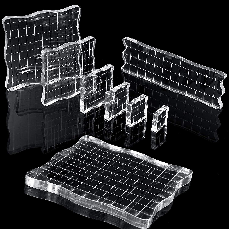 Quadrat Clear Acryl Block Stamp Blocks Sammelalbum Stanzen Handwerk Werkzeug