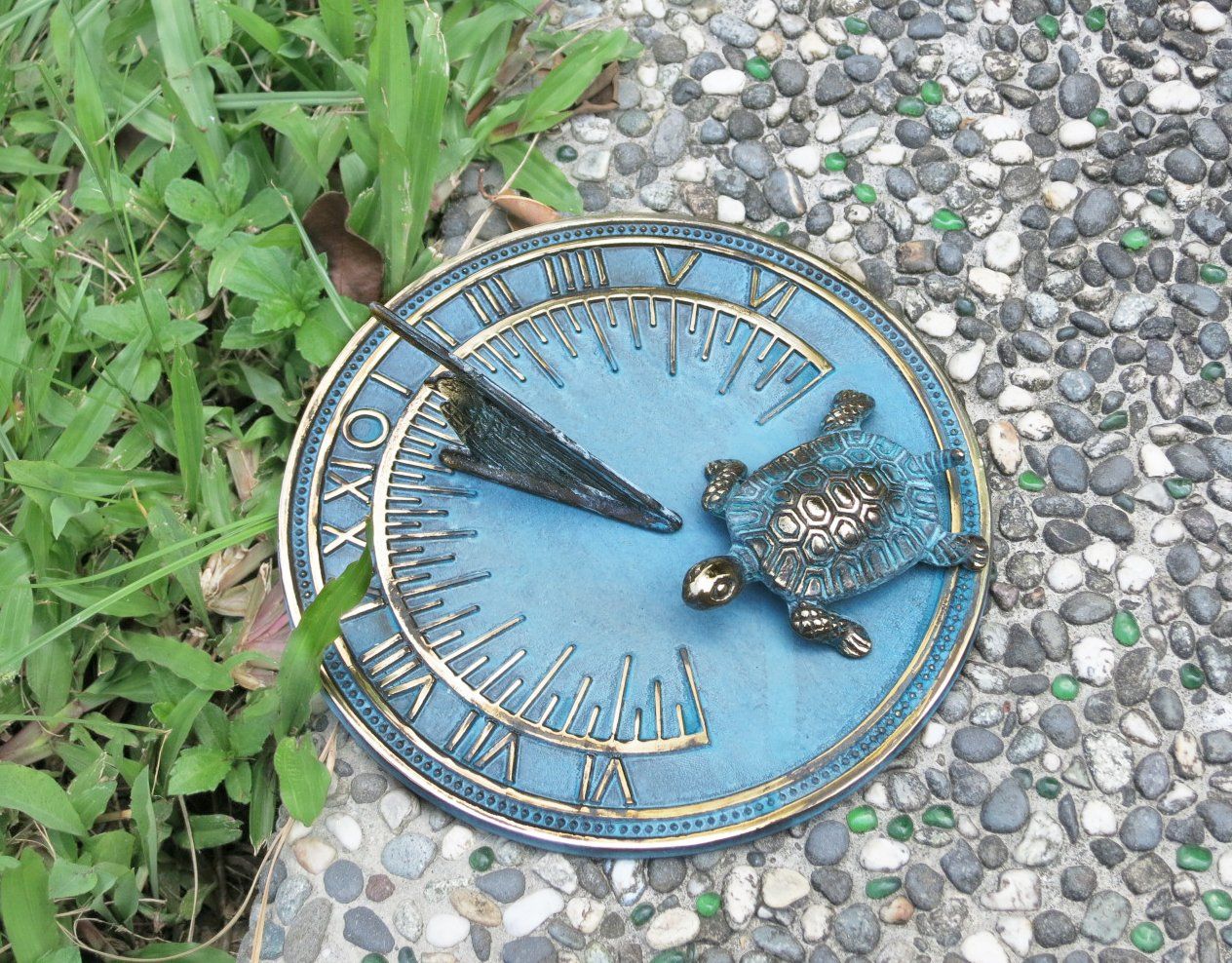 Brass Decorative Turtle Sundial 7'' Inches Wide by Taiwan (Image #5)