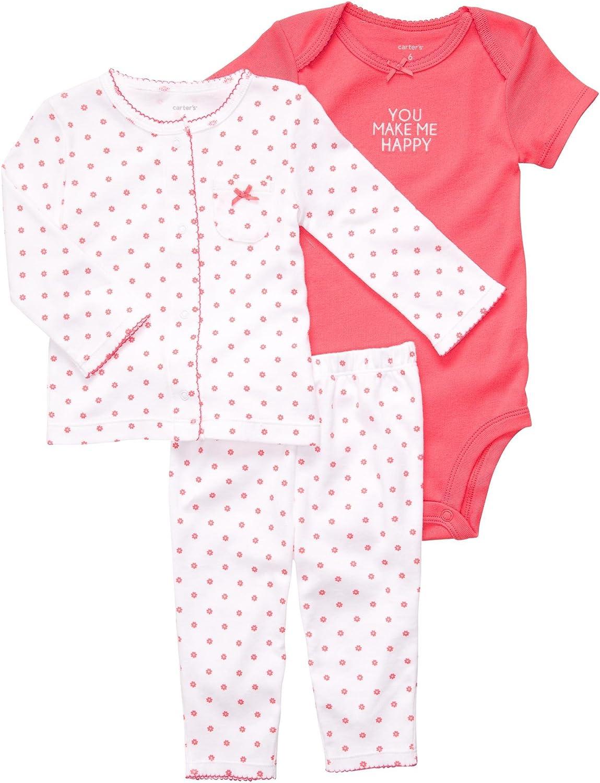 Carters Baby Girls 3 Pc Cardigan Set