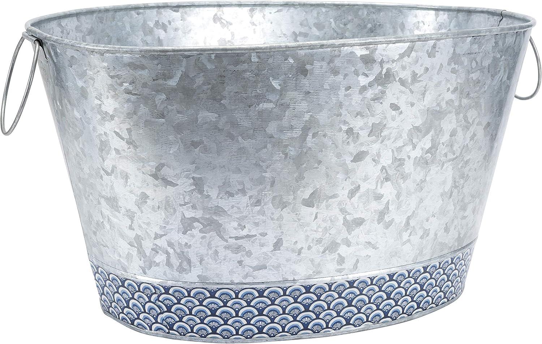 Old Dutch International Catalina Large Beverage Tub, Silver Blue