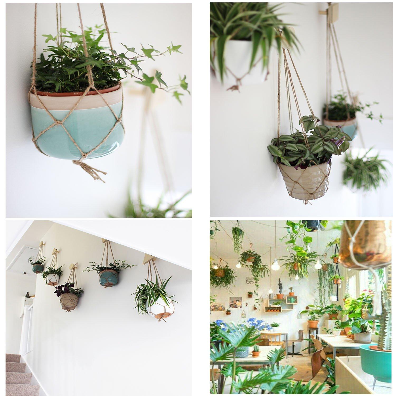 Amazoncom Beahity 6 Pack Plant Hanger Jute Rope Indoor Outdoor