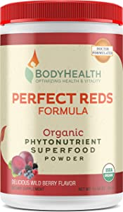 Perfect Reds Formula - Organic Phytonutrient Blend, (30serv), a Combination of phytonutrients, superfoods and enzymes
