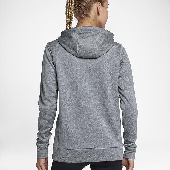 e8bd177297a8 Nike Therma Womens Full Zip Hoodie 868740 (Grey Black