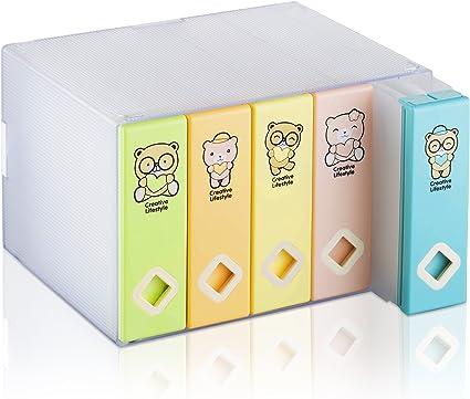 Caja de almacenamiento para CDs y DVDs de AhfuLife®, con colorido diseño, para ahorrar espacio multicolor Colorful Bear 120 CDs: Amazon.es: Informática