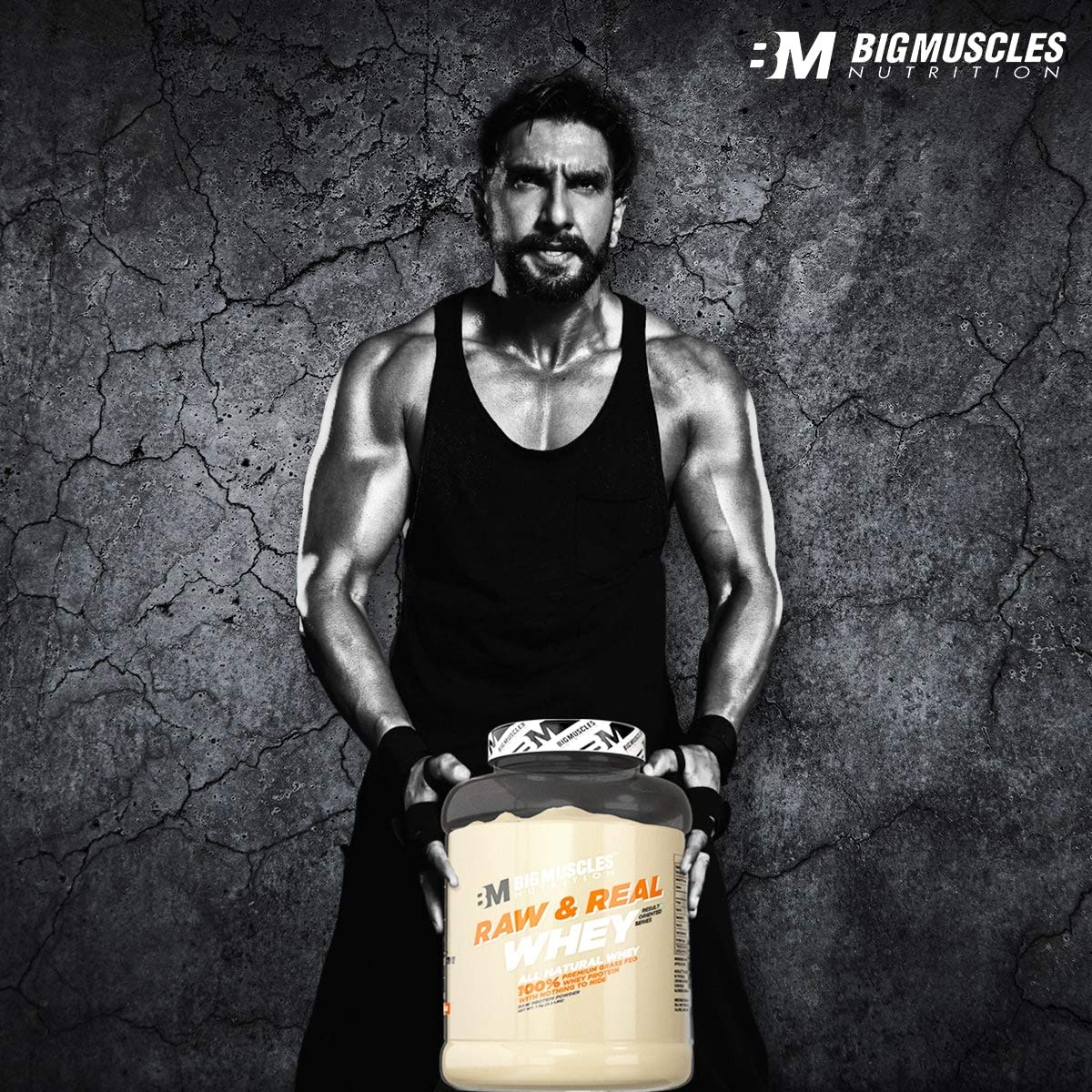 ae68834a Buy Bigmuscles Nutrition Raw & Real Whey Protein 4.4 lbs (Unflavoured)  Online at Low Prices in India - Amazon.in
