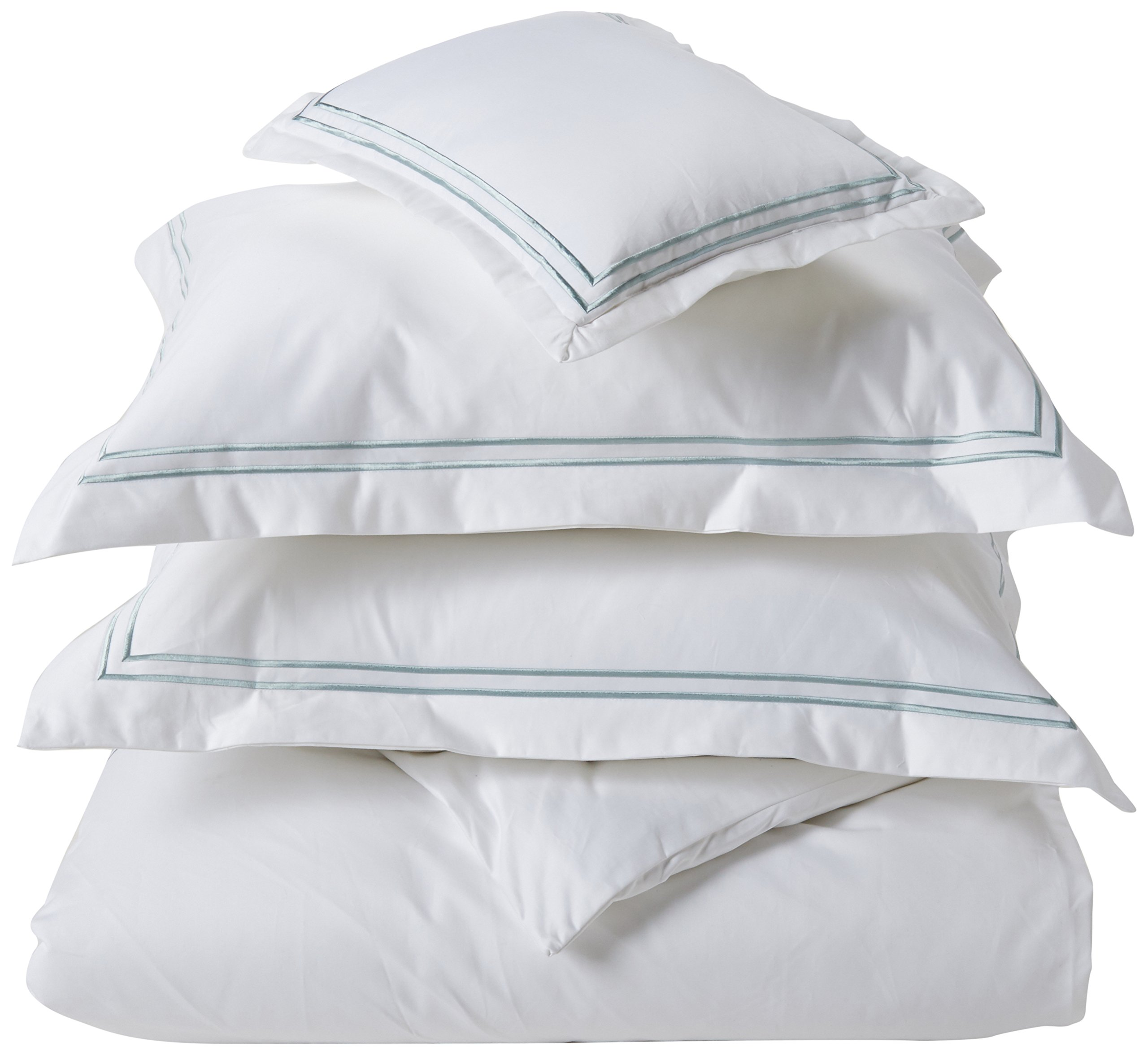 Madison Park Signature Down 1000-Thread Count Embroidered Cotton Duvet Cover Set Aqua King