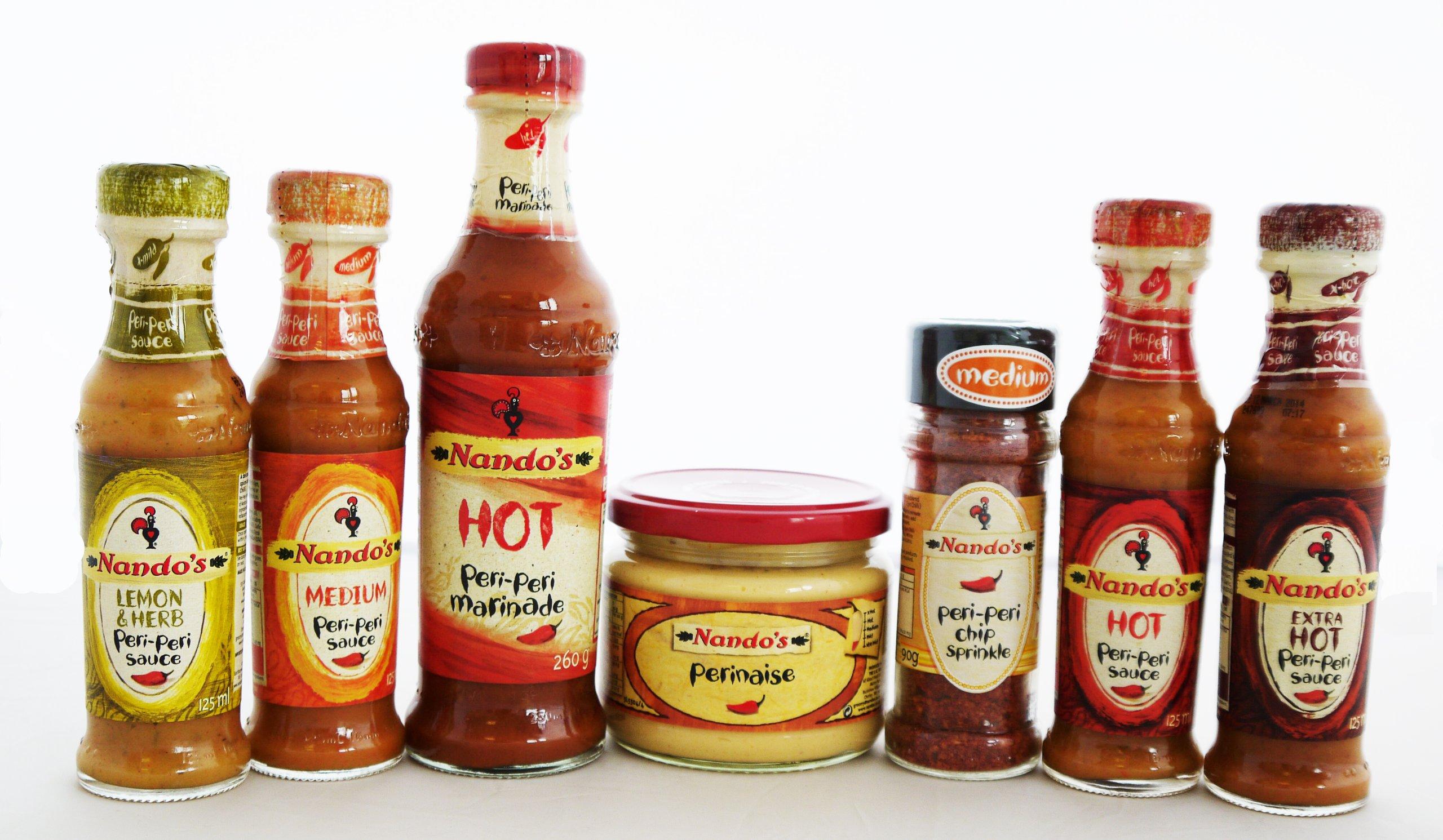 Cooking Marvellous Nandos Peri Peri - Hot Marinade, Perinaise, Peri Peri Chip Sprinkles, Lemon & Herb (Mild), Medium, Hot And Extra Hot Sauce. by Cooking Marvellous