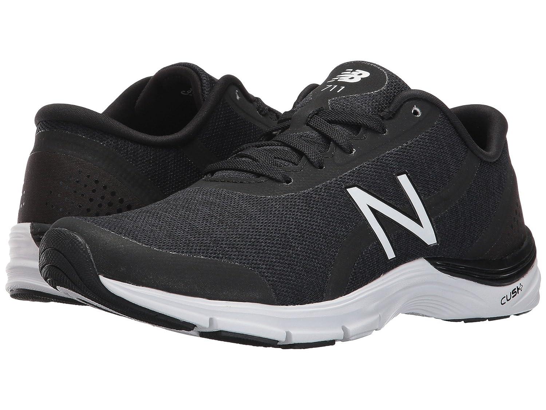 (ニューバランス) New Balance レディーストレーニング競技用シューズ靴 WX711 Black/White 7 (24cm) B - Medium   B078FZ5QP8