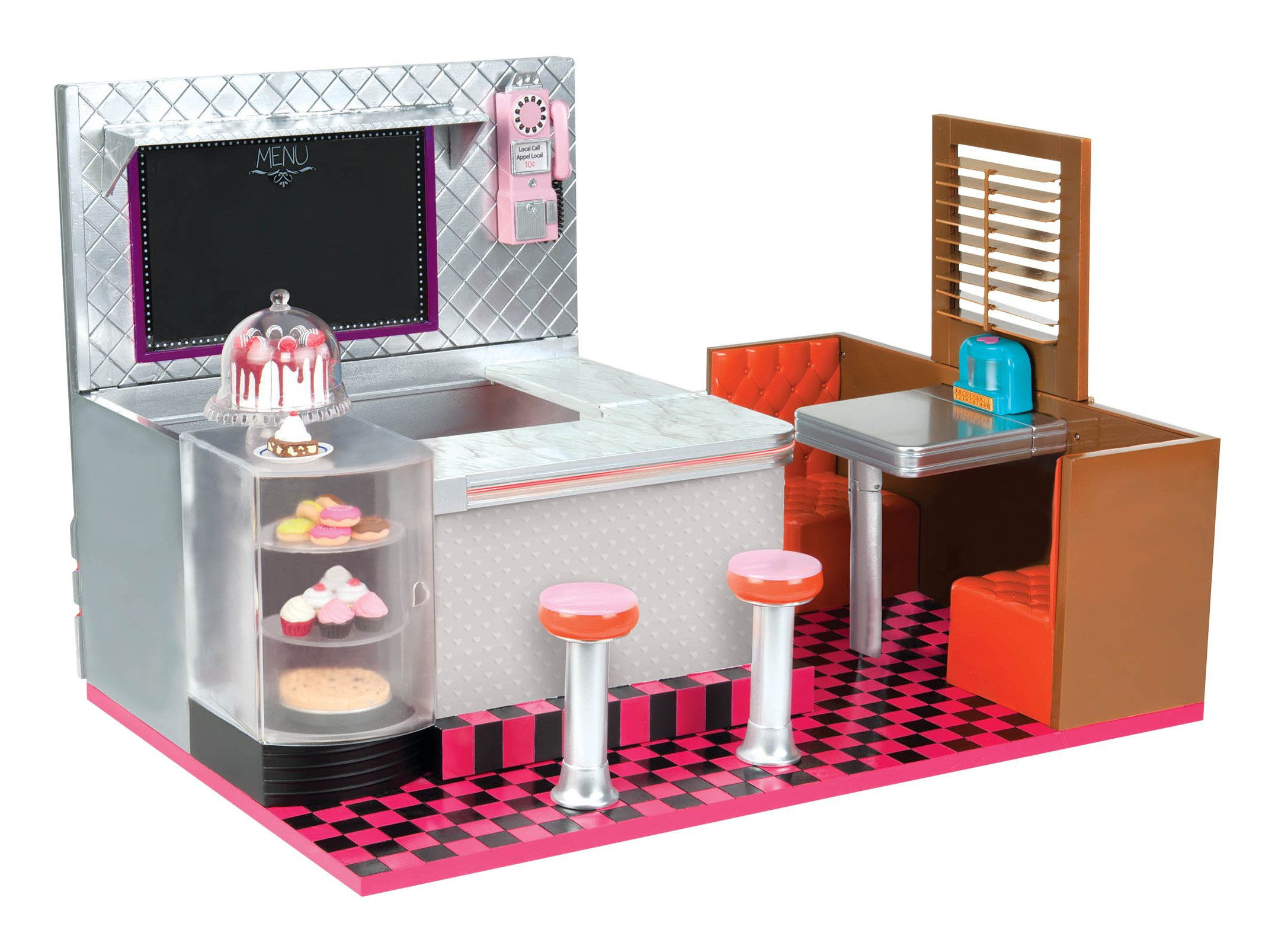 Our Generation Dolls Bite to Eat Retro Diner Accessory Kit