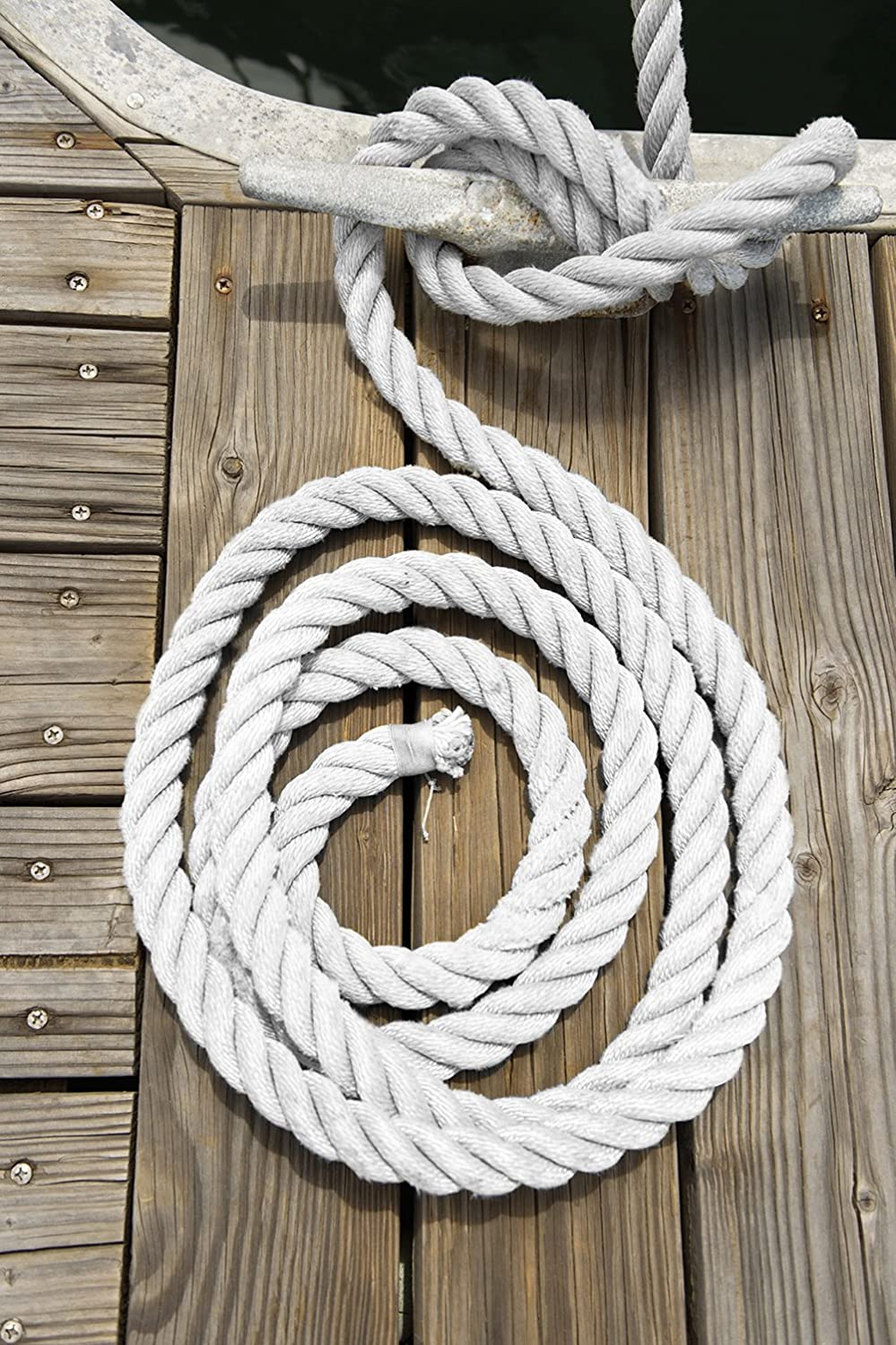 for Boats up to 35 Boat Accessories Direct 2 Boater 1//2 x 20 White 3 Strand Twisted Nylon Dock Line