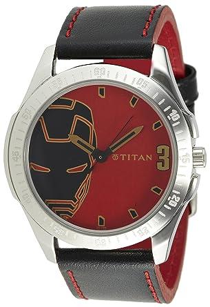 8411562e7 Titan Iron Man 3 Analog Multi- Colour Dial Men s Watch - 1587SL05
