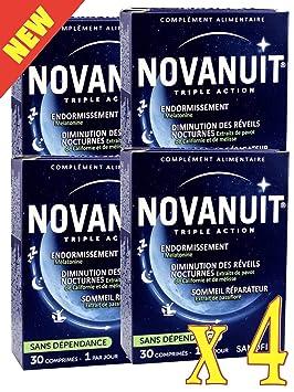 novanuit sueño triple action - Pastillas sin Dioxide de titanio - 4 meses de tratamiento - - Juego de 4 cajas de 30 COMP (4): Amazon.es: Salud y cuidado ...