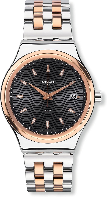 Swatch Reloj Digital para Hombre de Cuarzo con Correa en Acero Inoxidable YIS405G
