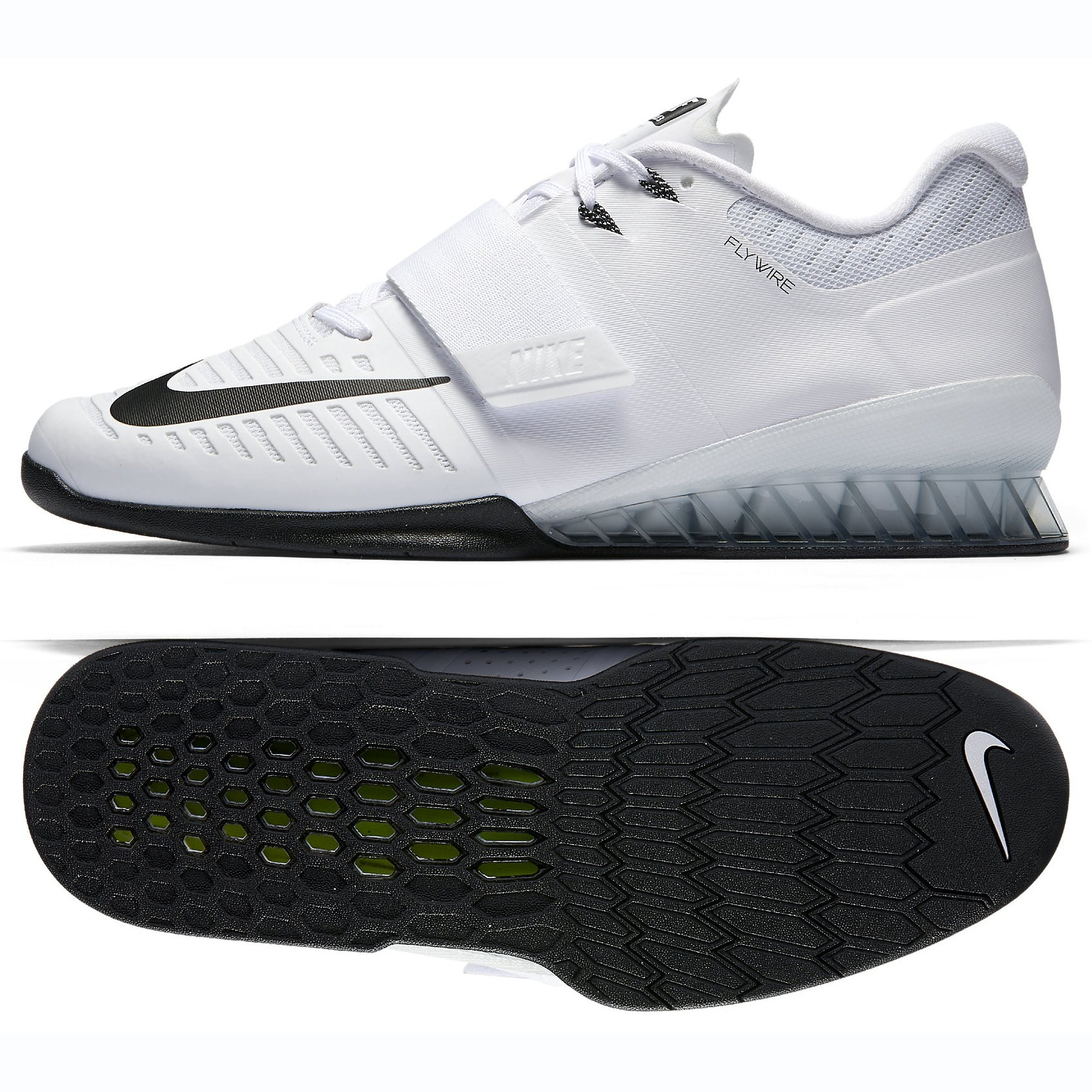 811f5832caea Galleon - Nike Romaleos 3 Mens Weighlifting Shoes (11.5 D(M) US) White Black -Volt