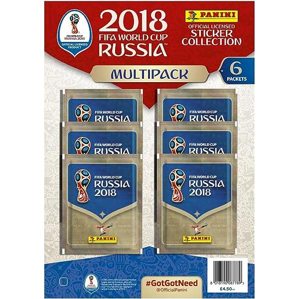 Panini 2018 FIFA Copa del Mundo - Colección Oficial estampas Adhesivas.: Amazon.es: Juguetes y juegos