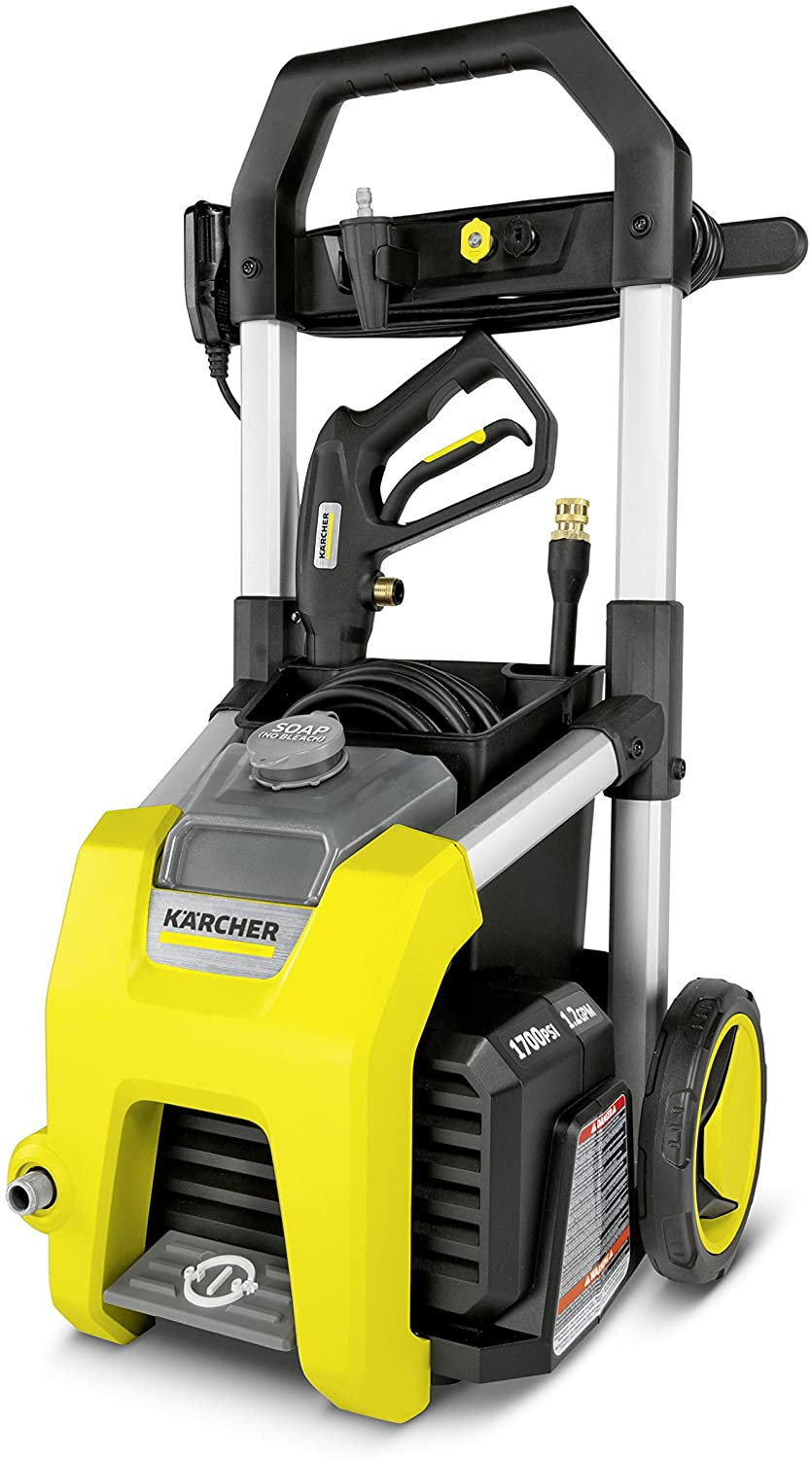 Karcher K1700 Electric Power Pressure Washer 1700 PSI TruPressure, 3-Year Warranty, Turbo Nozzle Included, Yellow : Garden & Outdoor