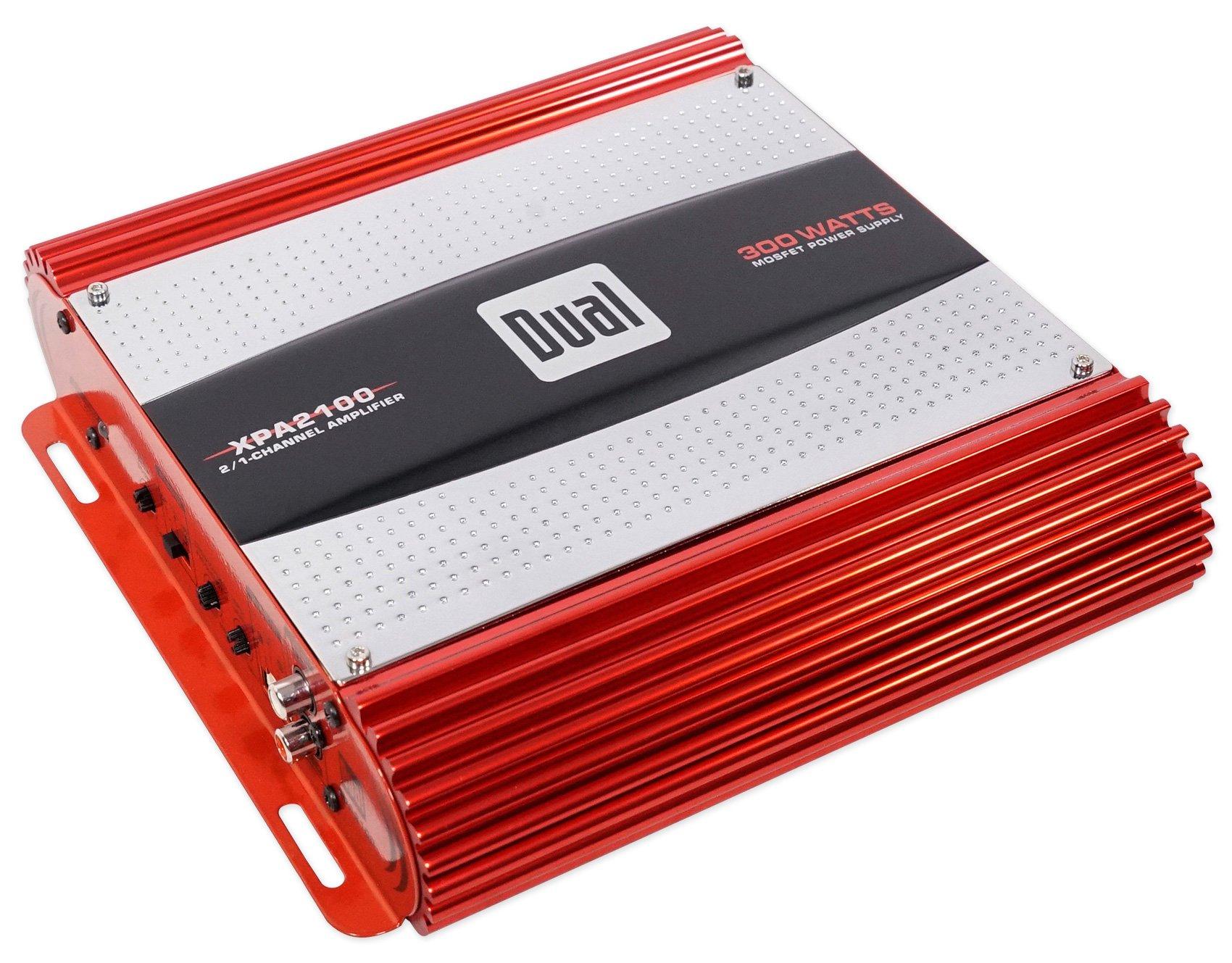 Dual XPA2100 300 Watt 2-Channel Car Audio Amplifier Bridgeable 2-Ohm Mosfet Amp