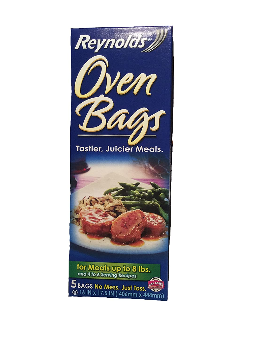 Reynolds Oven Bags, 5 Bag No Mess, For Meats up to 8 lbs and 4 to 6 Serving Recipes
