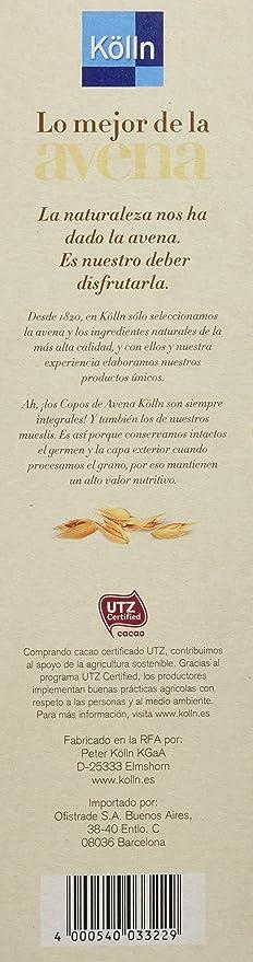 Kölln Mueslis de Avena con Chocolate y Galletas - 500 gr: Amazon.es: Alimentación y bebidas