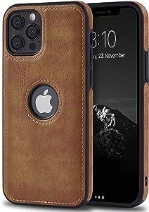 USLOGAN Vegan Leather Phone Case for iPhone 11 Pro Max Luxury Elegant Vintage Slim Phone Cover 6.5 inch (Brown)