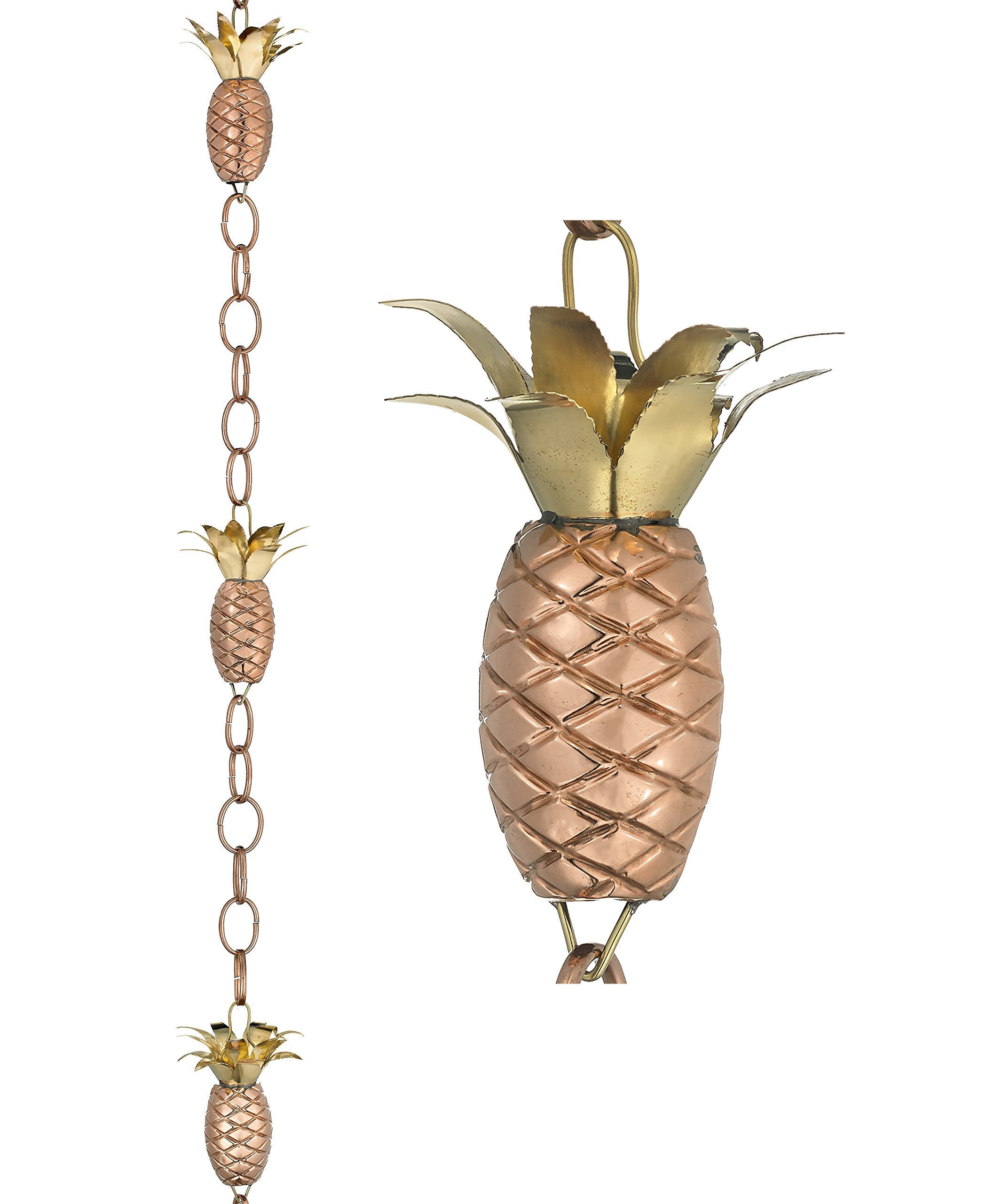 Good Directions Pineapple Pure Copper 8.5-Foot Rain Chain by Good Directions