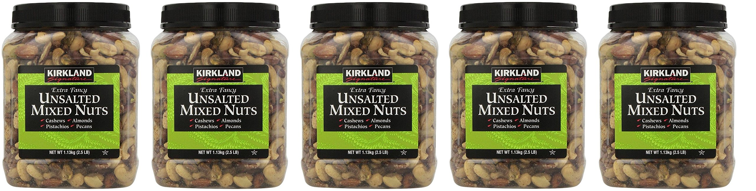Kirkland Signature Extra Fancy Unsalted Mixed Nuts, 40 Ounces (5 Pack)