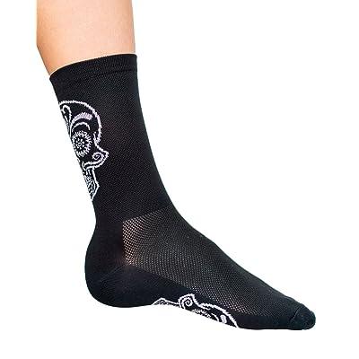 ".com : Cosmic Socks 6"" Zombie Ride Skull, Cycling Socks Size 6-11 : Sports & Outdoors"