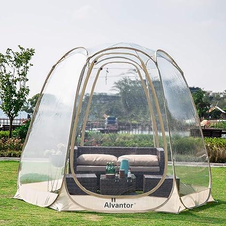 Alvantor Invierno Pantalla Casa Habitacion Camping Tienda Canopy Gazebos 4-6 Persona para Patios, Gran cápsula de Gran tamaño, toldo de Burbujas Pop ...