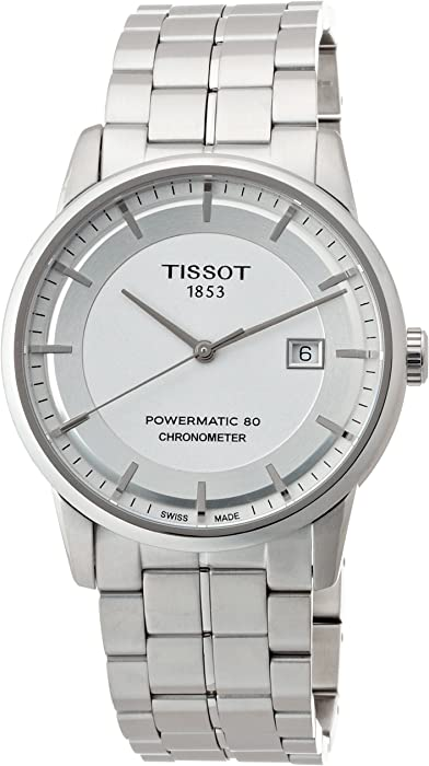 Tissot Luxury Automatic Silver Dial Stainless Steel Men
