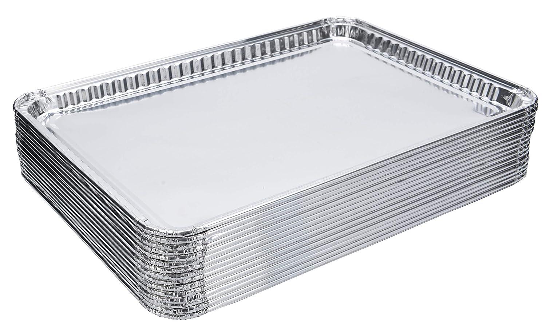 "DOBI (15-Pack) Baking Pans - Disposable Aluminum Foil Baking Sheets - 16"" x 11 1/4"""