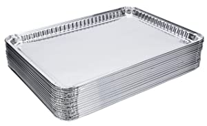 "DOBI (15-Pack) Baking Pans - Disposable Aluminum Foil Baking Sheets - 16"" x 11 1/4"""